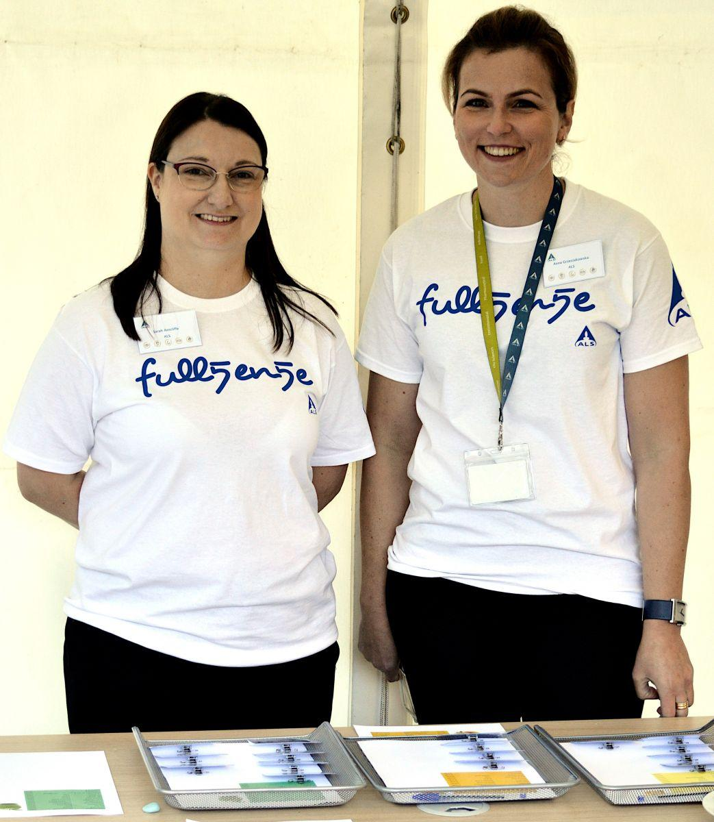 volunteers at stand