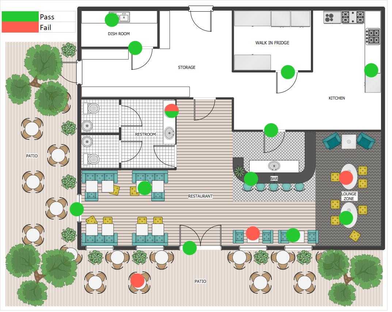 Visuals corona swab floor plan