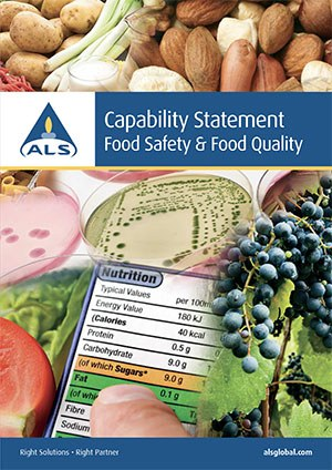 Capability Statement Food Safety Quality Cover