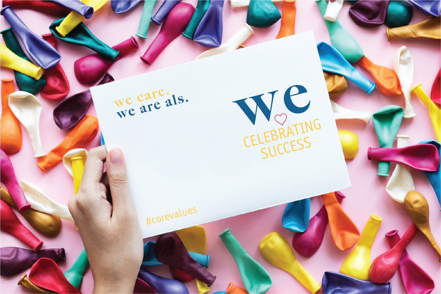 ALS core values celebrating success