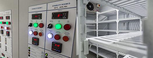 Stability testing storage